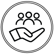 Hands with People Icon
